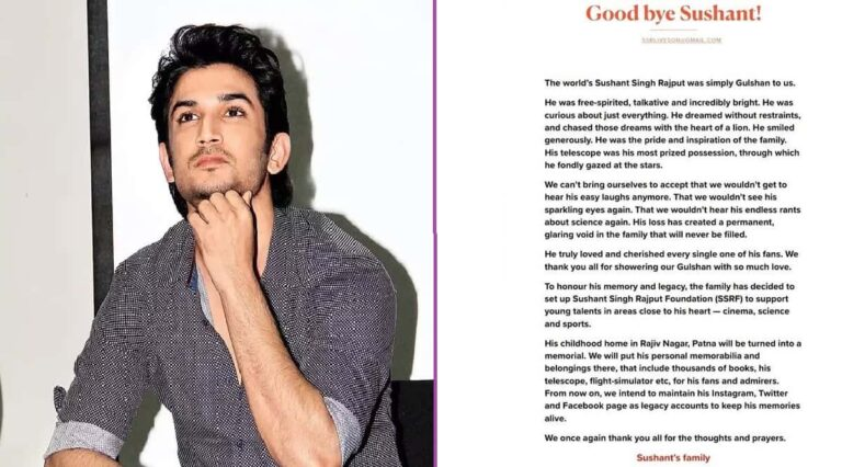 the family formed the Sushant Singh Rajput Foundation